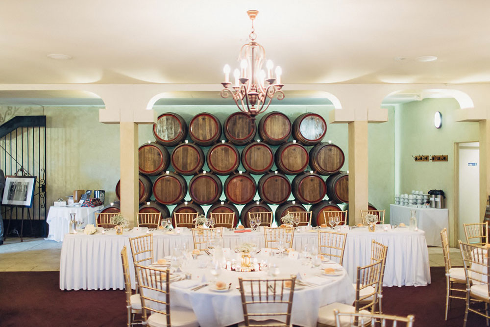 Barrel Room Bridal Table, Southern Highlands Weddings