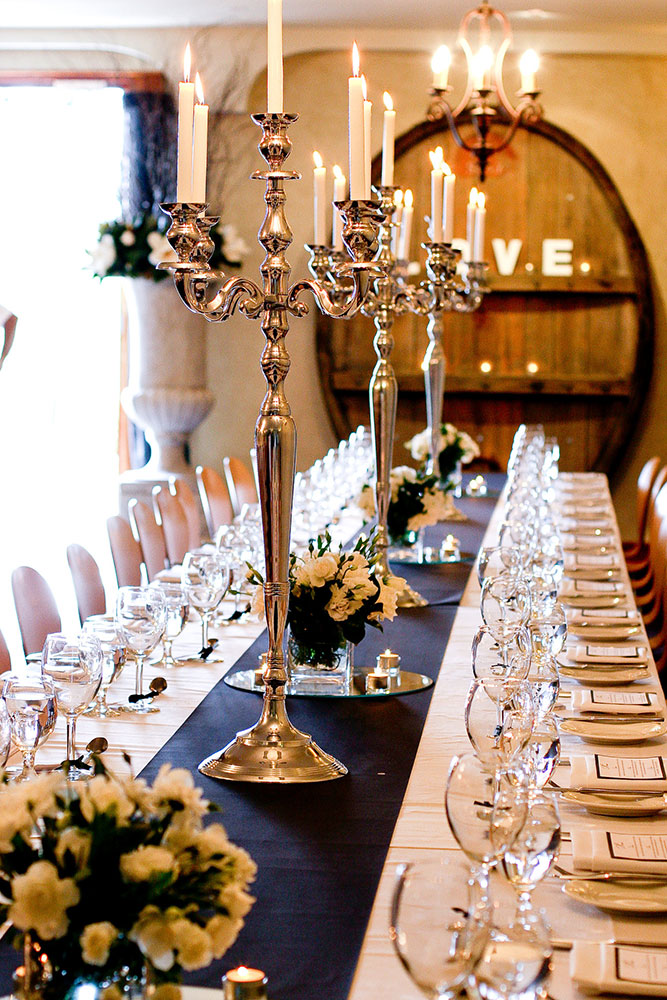 Barrel Room, Long Table, Southern Highlands Weddings