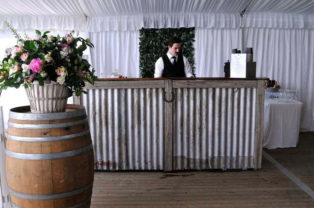 YES Wedding Rustic Bar, Southernn Highlands Weddings