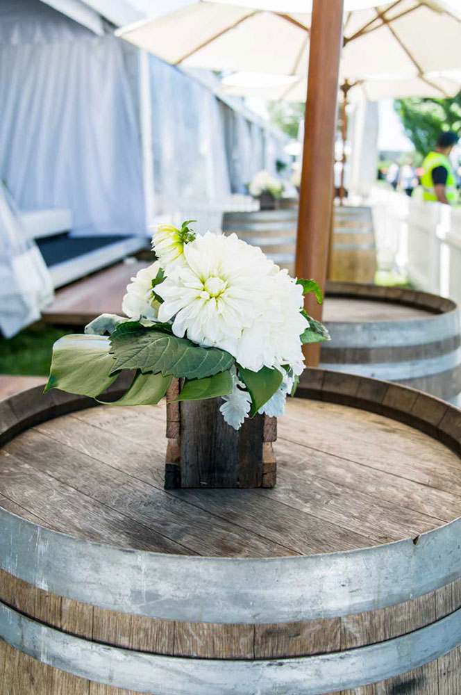 YES Wedding Wine Barrel, Southern Highlands Weddings