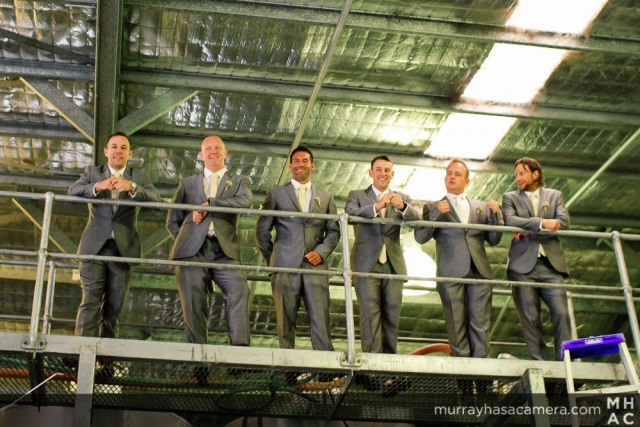Groomsmen in the Winery, Southern Highlands Weddings