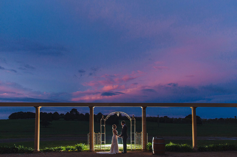 Sunset in the Courtyard, Southern Highlands Weddings