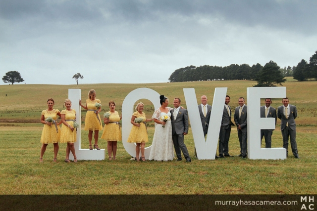 LOVE Bridal Party, Southern Highlands Weddings