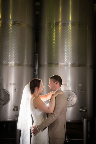Bride & Groom in the Winery, Southern Highlands Weddings
