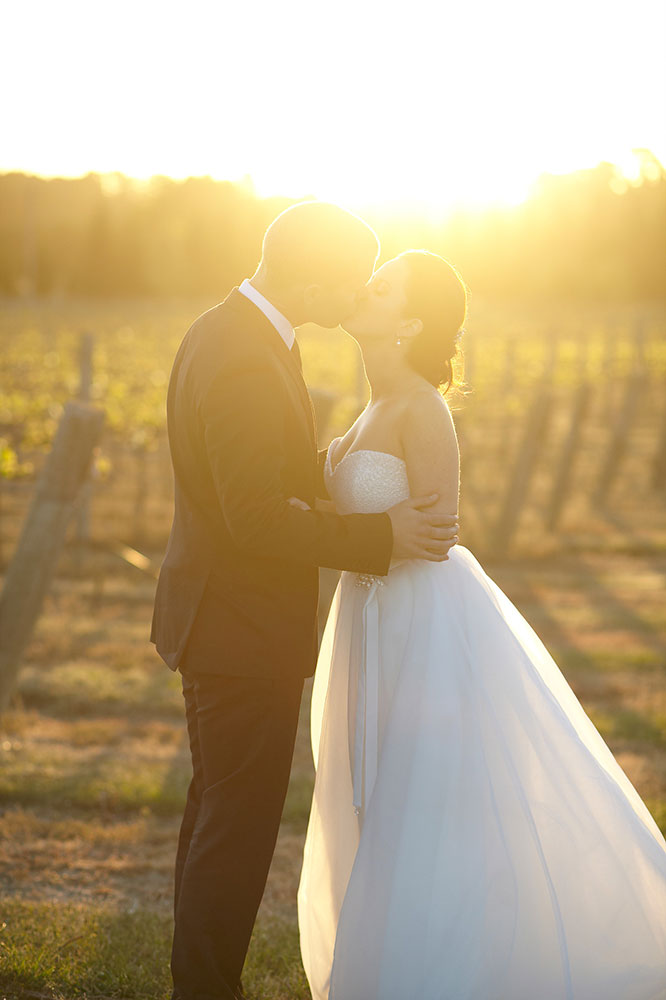 Sunset Vineyard Bride & Groom, Southern Highlands Weddings