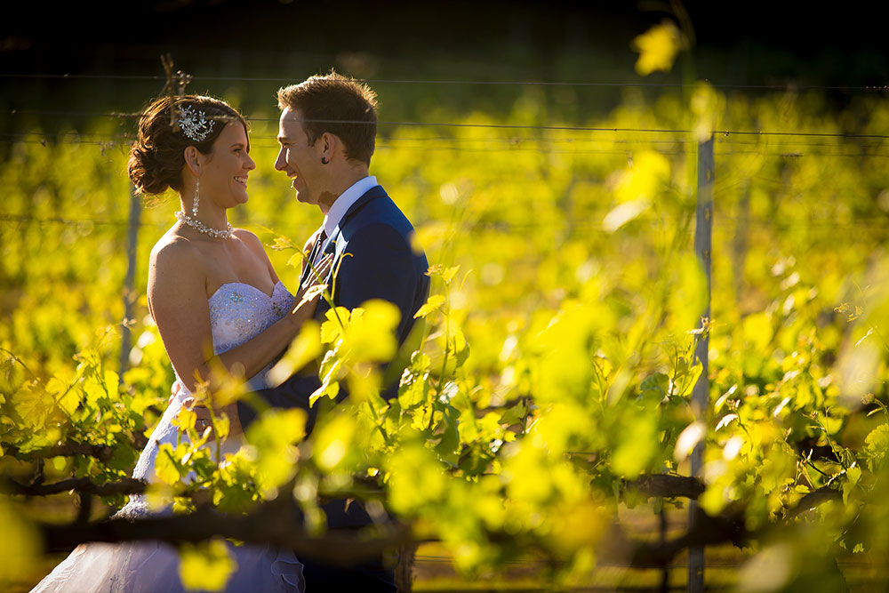 Bride & Groom in the vineyards, Southern Highlands Weddings
